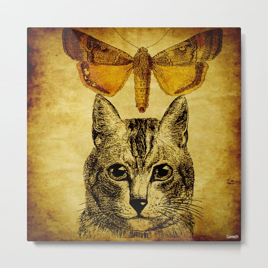 The mystic cat ( for Batkei) Metal Print
