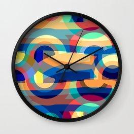 Marine abstraction II Wall Clock