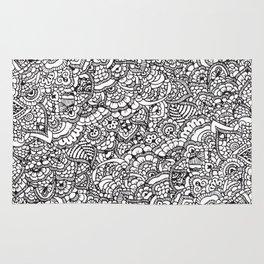Handrawn intricate doodle/zentangle Rug