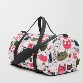 Lovely Cats Pattern for Cats Lovers. Duffle Bag