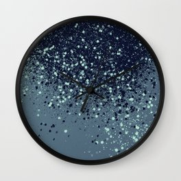 Sparkling Blue Summer Night Lady Glitter #3 #shiny #decor #art #society6 Wall Clock