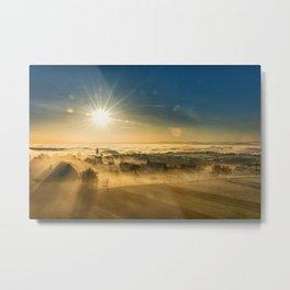 Dawn & Fog Over New England landscape photograph Metal Print