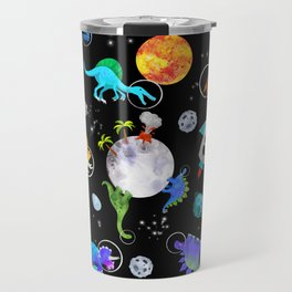 Dinosaur Astronauts In Outer Space Travel Mug
