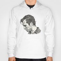 kerouac Hoodies featuring Exploding Like Spiders Across The Stars by Adam McDade