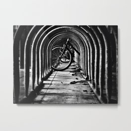 The Bike Rack Metal Print