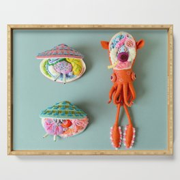 Anatomy of Small Ear Squid & Deep Water Clams Serving Tray