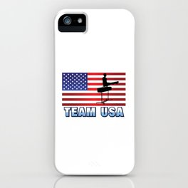 Team USA Pommel Horse Gymnastics American Flag Outdoor Sports Gift Design iPhone Case