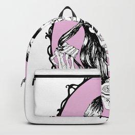Skeleton pink background Backpack