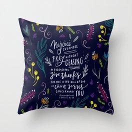 Rejoice Evermore Throw Pillow