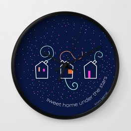 Sweet home under the stars Wall Clock