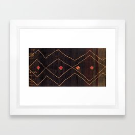 Feiija  Antique South Morocco North African Pile Rug Print Framed Art Print