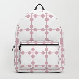 Droplets Pattern - White & Dusky Pink Backpack