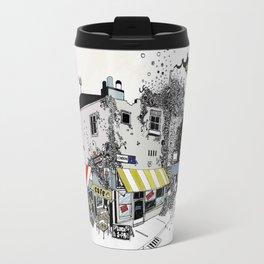 Street view pen drawing London illustration Travel Mug