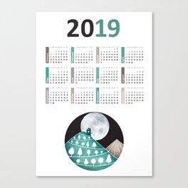 Calendar 2019, landscape Canvas Print