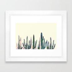 cactus water color Framed Art Print
