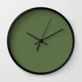 Spring 2017 Designer Colors Kale Green Wall Clock