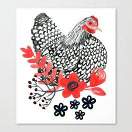 Wyandotte Chicken Canvas Print