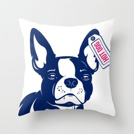 Dog French bulldog Hot Dog Throw Pillow