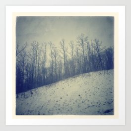 Winter scape #1 Art Print