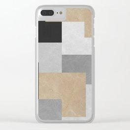 Modern geometry XIV Clear iPhone Case