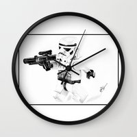 trooper Wall Clocks featuring Trooper by Inks. MD