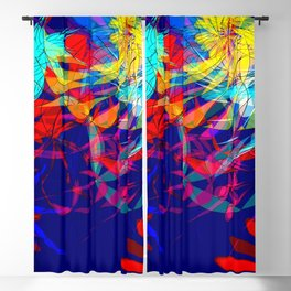 Flowers of the ocean Blackout Curtain