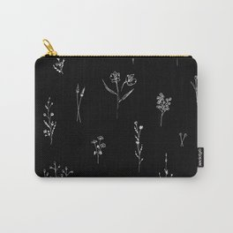 Black wildflowes Big Carry-All Pouch