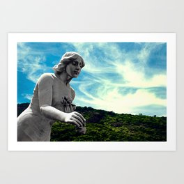 Sky/Statue#3 Art Print
