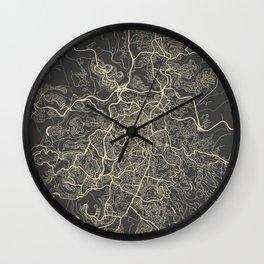 Jerusalem Map Wall Clock