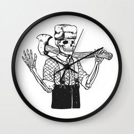 Russian woodcutter skull Wall Clock