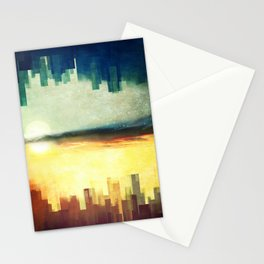 Parallel cities Stationery Cards