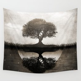 The lone Night reflex Wall Tapestry