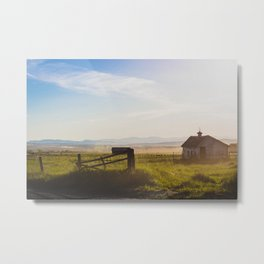 Springhill Road, Gallatin County, MT Metal Print