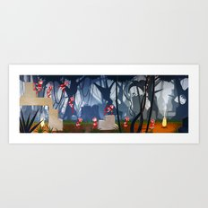 In the forest Art Print