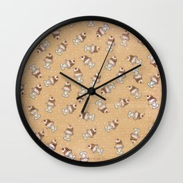 Cherry Sundaes Tan Wall Clock
