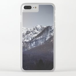Snowy Mountain Range Clear iPhone Case