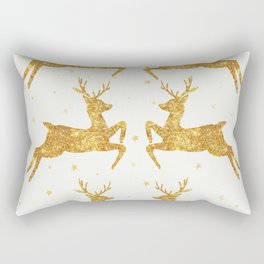Golden Deers Rectangular Pillow