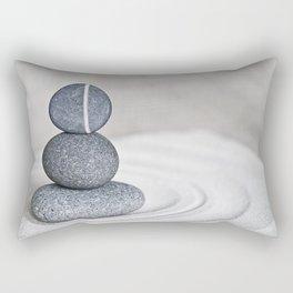 Zen cairn pebble stone balance grey Rectangular Pillow