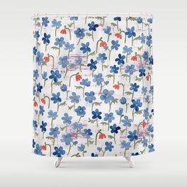 Blue Anemone - Springflowers Shower Curtain