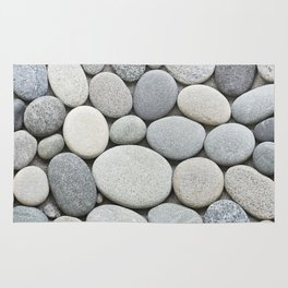 Grey Beige Smooth Pebble Collection Rug