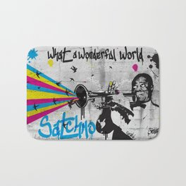 What A Wonderful World Bath Mat