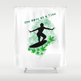 One Wave at a Time Shower Curtain