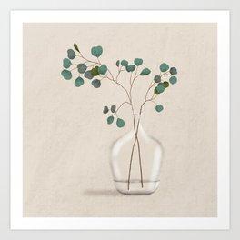 Silver Dollar Eucalyptus Art Print