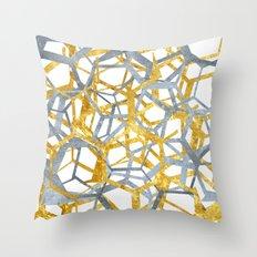 Hexagon Marble Throw Pillow