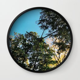 A Blue Fall Day Wall Clock