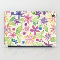 leah flores iPad Cases featuring Flores by JuanaViEs