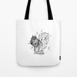 Geometric Season1:4 Squirrel Tote Bag