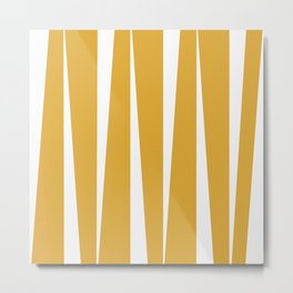 Yellow abstract lines  Metal Print