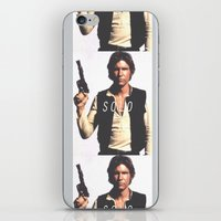 han solo iPhone & iPod Skins featuring Han / Solo by Earl of Grey