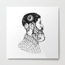 BEARDED MAN Metal Print